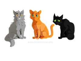 The Other Warrior Cat Trio by Sno-wy