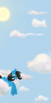 Commission: Watching The Skies by Tinyfeather