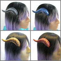 Multi Color Dragon Horns by DragonCid