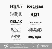 Pack tipografias Summer. by creativewilde