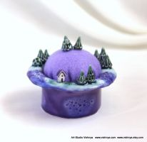 Lavender planet - Pincushion and Decorative Pins by vavaleff