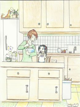 Baking with Lily by snekochan