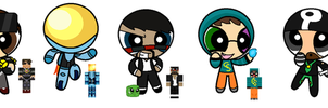 Puffed minecrafters by Gameaddict1234