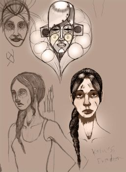 Hunger Games sketching by opal-devil