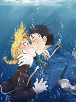 RoyEd: Underwater Kiss by c0ralus