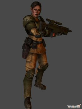 2nd Lt. Mira of the 203rd Cadian Regiment by thePWA