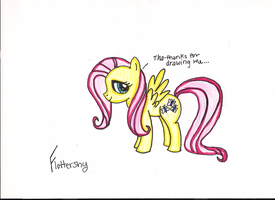Fluttershy thanks me... by aynstainxpenelope