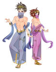 Spell Fencers Tiz and Yew by xiaa