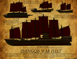 Zhengqis ancient war fleet. by Athalai-Haust