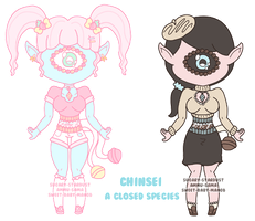 SALE - 2/2 Open | Chinsei Adopts by Sugary-Stardust