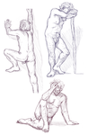 Figure drawings 5-10-17 -NSFW- by ErinPtah