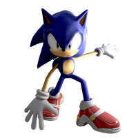 I'm back. Here's a pic of Sonic I guess... by EnderAndroid