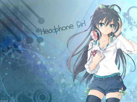 Headphone Girl (Hibiki gahana from Idolm@ster) by Takuneru