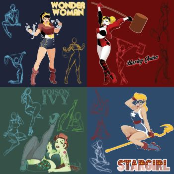 DC's Bombshell Concepts by theCHAMBA