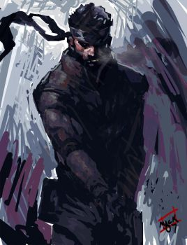 Solid Snake by Kandoken