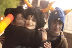 iT'S UH, jUST A LITTLE KISS,, y'KNOW FOR GAMZEE by Midnight-Dance-Angel