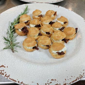 Goat Cheese Gougeres by Vaporapture