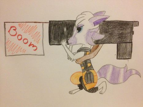 Dr Wolf as Rocket Raccoon by TheEasterArt