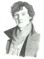 Benedict Cumberbacht as Sherlock Holmes by Victoria-the-witch