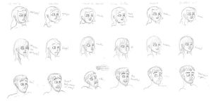 Expressions Part 1 by EspionneRouge