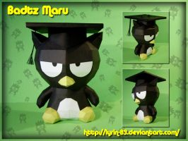 Grad Badtz Maru Papercraft by Lyrin-83