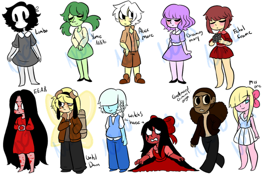 Horror Game Theme Adopts (Paypal and Points:OPEN) by Astrum-Adopts