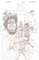 5 ghosts pinup pencils by GIO2286