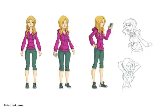 College Girl Model Sheet by BrianLukArt