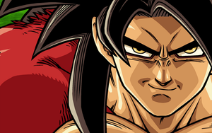 Goku SSJ4 2 wide wallpaper by psy5510