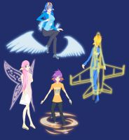 My Little Human: Pegasi and their Wings by JonFawkes