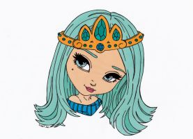 The Tiara Colored by Maiko-Girl