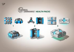Unreal Tournament - Health Packs Concept Art by Sly-Mk3