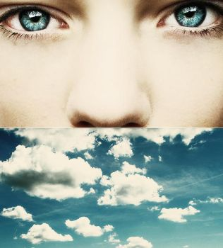Staring at the blue blue sky by ByLaauraa