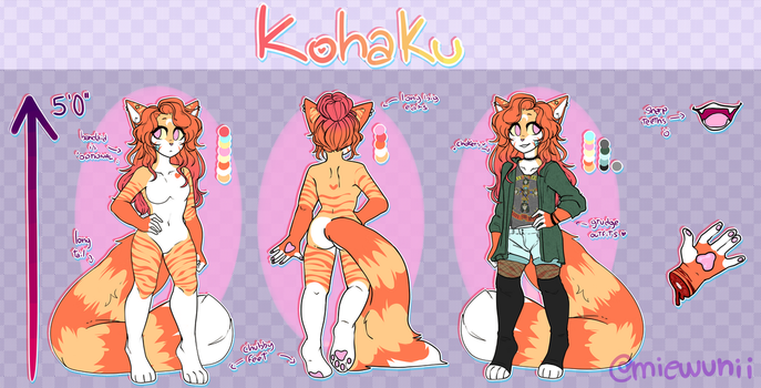 New!||Kohaku Ref Sheet by miewunii