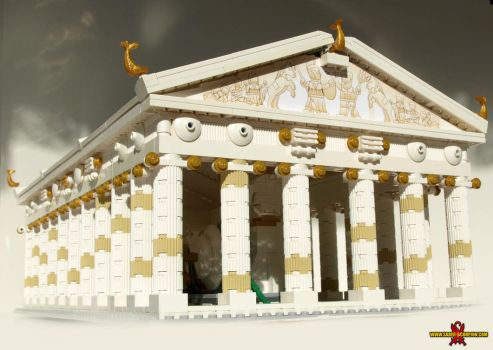 LEGO Temple of Athena 1 by Saber-Scorpion