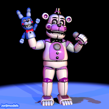 Funtime Freddy and BonBon by jorjimodels