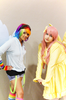 Rainbow Dash and Fluttershy by Awesome-Vivi