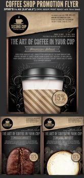Coffee Shop Promotion Flyer Template by Hotpindesigns