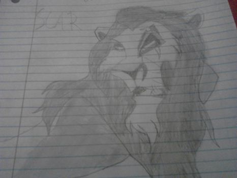 Scar from the lion king drawing by Wolfman4455