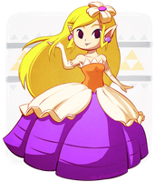 Princess Zelda as Princess Styla by Skellytune