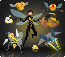 Marvel-Pokemon Crossover: The Wasp by KalWalker