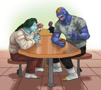 DBZ - A Chat Over Space Soda by Rhandi-Mask