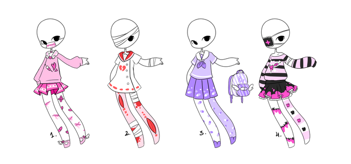 Menhera Outfit Adopts [4/4 OPEN] by MaiaSadoptsNstuff