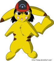 ash is a pika girl by ledja