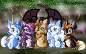 The Dark Pack by midow-fura
