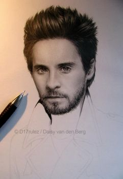 Drawing of Jared Leto WIP 3 by D17rulez