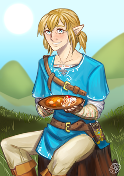 The Hylian Champion recommends a healthy meal! by drkstars