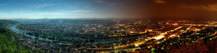 Trier - Day to Night Panorama by 55Laney69