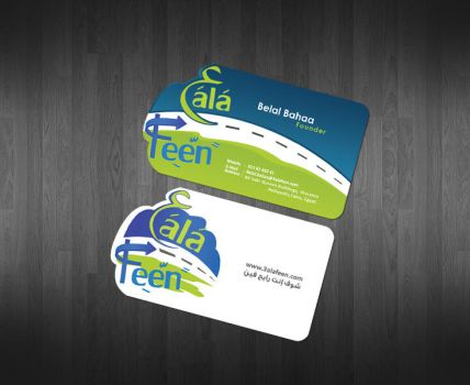 3ala feen Business card Design by ahmedelzahra