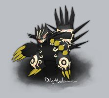 SHINY Primal Groudon by delgalessio